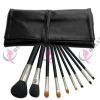 Buy cheap TB-9-07 Synthetic Hair 9pcs makeup brush set with case black from Wholesalers