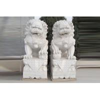 Wholesale Marble double lion outdoor animal sculpture with high quality from china suppliers
