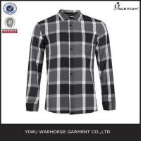 China Black And White Check Long Sleeve Casual Shirt on sale