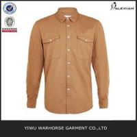 Wholesale Tan Long Sleeve Casual Shirt from china suppliers