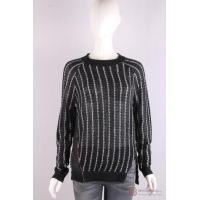 Wholesale P-051 Pullover with stripe, zipper slit from china suppliers