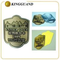 Wholesale Aluminum Custom Logo Printing Adhesive Wine Label Sticker from china suppliers