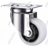 Wholesale [industrial 43 series] - White Nylon (PA) stainless steel bracket with brake flat wheel from china suppliers