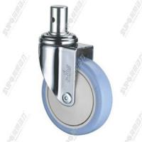 Wholesale [medical 01 series] - Blue polyurethane (PU) chrome plated with brake light rod universal wheel from china suppliers