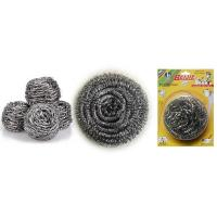 Wholesale stainless steel scourer/sponge/cleaning ball for kitchen with plastic handle Scourer from china suppliers