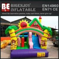 Wholesale super slide bounce house inflatable bouncer moonwalk from china suppliers
