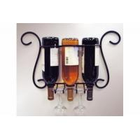 China Wire shelf series Product name:Wire 3-Bottle Wall Wine/Glass Holder on sale