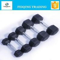 Wholesale FQ2001 hex rubber coated dumbbell from china suppliers