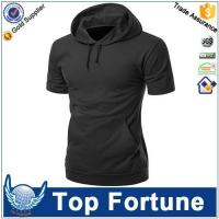 Wholesale Hoodie men's short sleeve hoodie manufacturers from china suppliers
