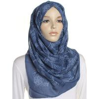Buy cheap Blue Floral Art Large Maxi Hijab from Wholesalers