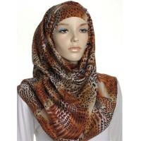 Buy cheap Beige Animal Print Large Maxi Hijab from Wholesalers