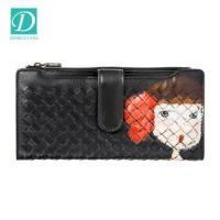 Buy cheap 2017 Fashion Wallet Hand-made Weave Genuine Leather Wallet Women Lady Purse from wholesalers
