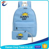 Wholesale Women Fashion Cartoon Book Bag Canvas Materials Outdoor School Bag For University Students from china suppliers