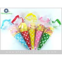 China 40my Thickness Cone Shaped Bags Factory Sweet Pea Parties Cellophane Treat Bags OPP Cone Shaped Poly on sale