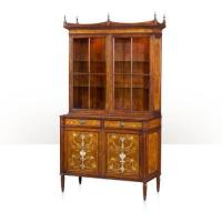 Buy cheap Laurel burl library bookcase from Wholesalers