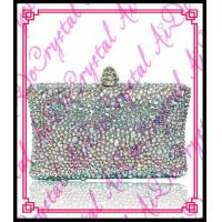 Wholesale Aidocrystal Top Beauty white rhinestone crystal designer indian clutch purses wholesale from china suppliers