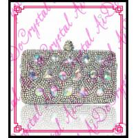 Wholesale Aidocrystal 2015 fashion type pearl clutch evening bags crystal beaded handmade bag from china suppliers