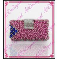 Wholesale Aidocrystal 2016 new style handmade fuchsia color crystal rhinestones women clutch bag for party from china suppliers