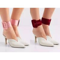 2017 Hot Sale Oversized Women Satin Ankle Straps, Suitable Each Shoes Many Colors For Choose JH-0001