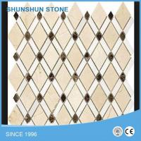 Wholesale Popular Design Crema Marfil Cheap Mosaic Tile Diamond Mosic for Kitchen from china suppliers