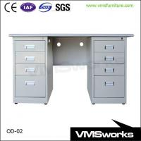 Wholesale Steel Frame Office Work Computer Table Furniture With Storage Cabinet from china suppliers