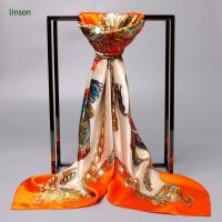 Wholesale Printed Silk Scarf Digital Printed Custom Design 100% Silk Satin Scarves Wholesale from china suppliers