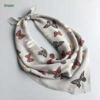 Wholesale Printed Silk Scarf 2017 spring chiffon cdc scarf with butterfly printing from china suppliers