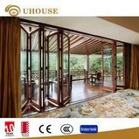 China aluminium french bifold doors for exterior with 5mm double tempered glass on sale