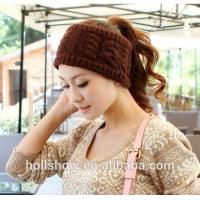 Wholesale Fashion Accessories Best Selling Coffee Women Crochet Knitted Winter Headband from china suppliers