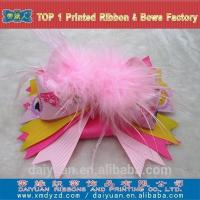 China Fashion Accessories Best selling pretty feather decorative hair clips with spring clips on sale