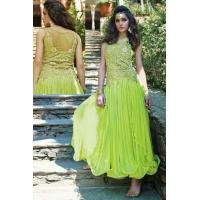Wholesale Net Green Party Wear Gown - MAN 13357 from china suppliers