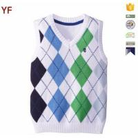 Wholesale Children's V-neck Argyle Sweater Vest from china suppliers