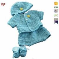 Wholesale 100% Cotton Free Crochet Sweater Baby Pattern from china suppliers