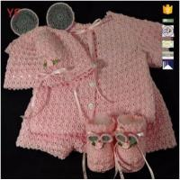 Wholesale Flower Ribbon Hat with Ear Handmade Crochet Baby Pattern Clothes from china suppliers