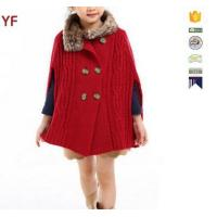 Wholesale Latest Wool Sweater Fur Poncho Designs For Grils from china suppliers