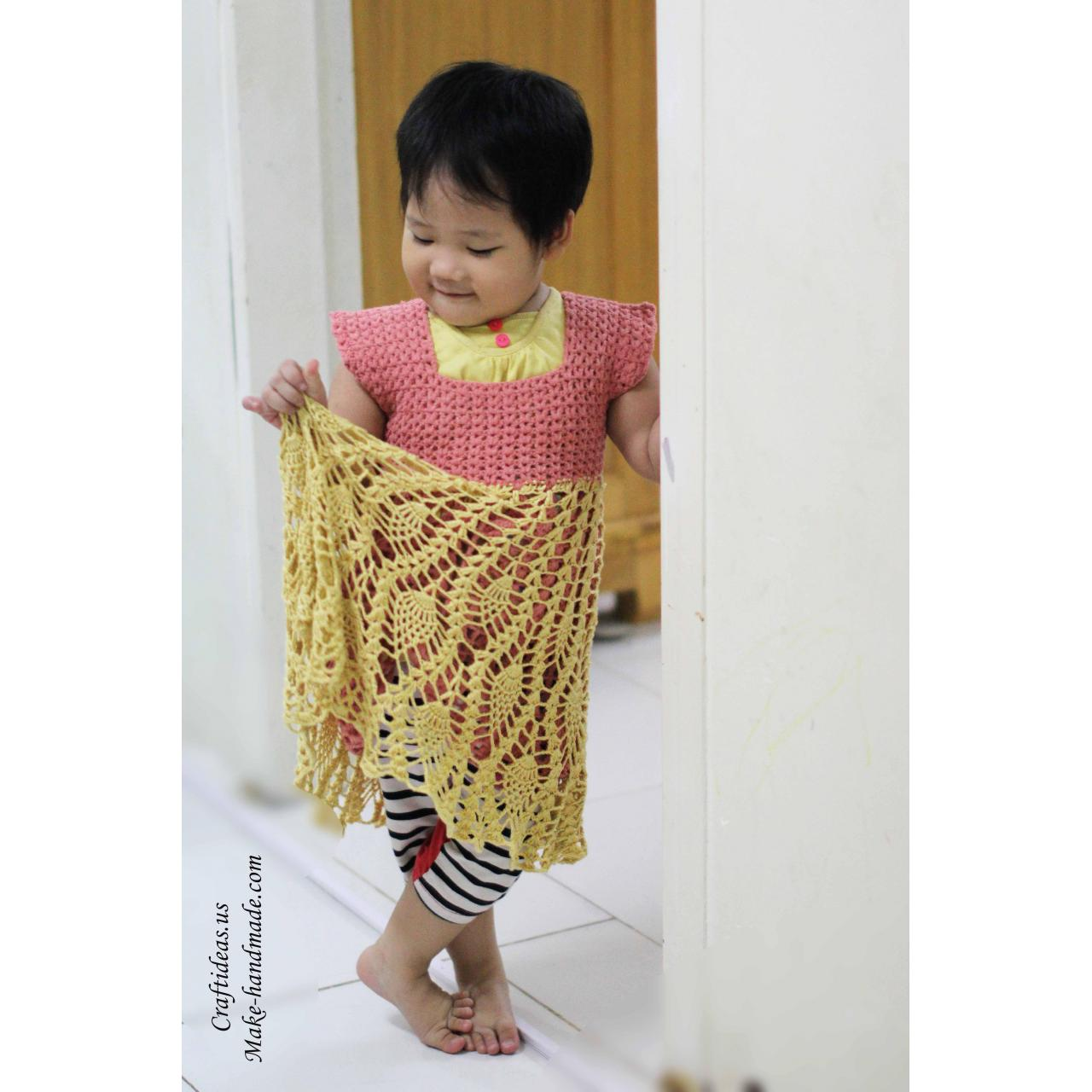 Wholesale Handmade Crochet pineapple baby dress ideas from china suppliers