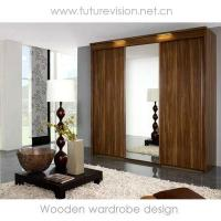 China WOODEN SLIDING CLOSET DOORS on sale
