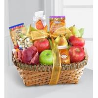 China Sympathy Flowers Warmhearted Wishes Fruit & Gourmet Kosher Gift Basket on sale