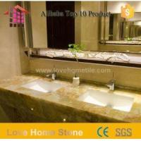 56 Inch Cultured Marble Double Bathroom Sinks Countertops with Low Price