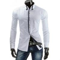 Wholesale Men White Cotton Blends Shirt Men's Clothing from china suppliers
