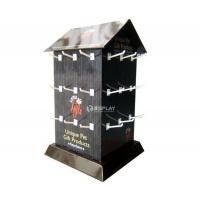 China Retail Store Promotional Cardboard Greeting Card Display Racks Free Standing on sale