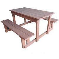 Buy cheap Outdoor WPC Wood Table With Bench For Garden And Park from wholesalers