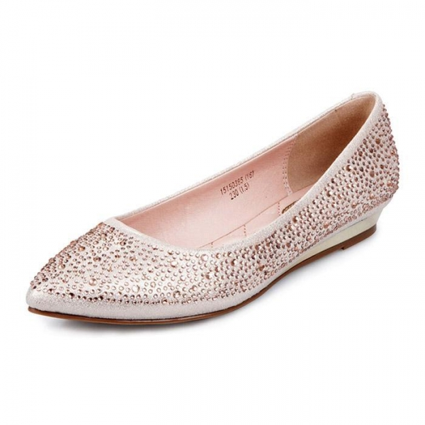 Quality Flats Hot drill pointed flat shoes mom for sale