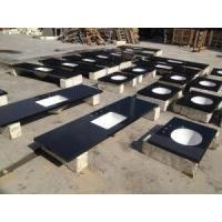 Buy cheap Polished Black Granite Bathroom Vanity Tops For Home from Wholesalers
