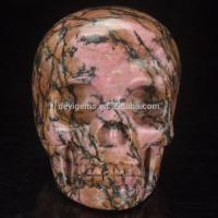 China Top Selling 3inch Rhodonite Healing Stone Skull Made in China on sale
