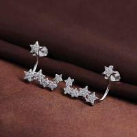 Buy cheap Lastest Fashion Crystal Rhinestone Design Silver Earrings Jewelry from Wholesalers