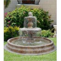 Buy cheap Stone Marble Carved Water Fountain For Outdoor Garden / Landscape / Yard from wholesalers