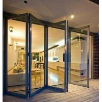 China Aluminum Interior Bi Folding Door With Lowes Tempered Glass For Sale on sale