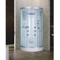 Curve Shape ABS Material Low Tray Sliding Doors Tempered Glass Shower Cabin 90X90