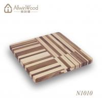 Wholesale High Quality Food Safe Square Walnut Wood Chopping Board With Handle Hole from china suppliers